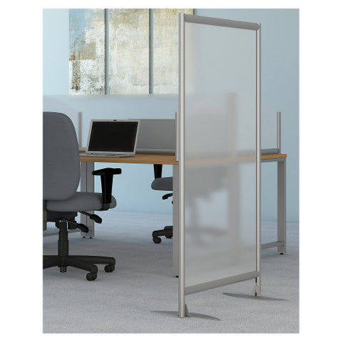 Bush Privacy Screens Freestanding Frosted Acrylic Screen w Stationary Base, PSP535FRK ; UPC: 042976090616 ; Image 2