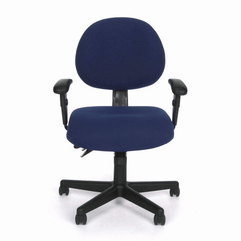 OFM Model 241-AA 24 Hour Ergonomic Upholstered Task Chair with Arms, Blue ; UPC: 845123012369 ; Image 2