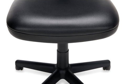 OFM Straton Series Armless Swivel Task Chair, Anti-Microbial/Anti-Bacterial Vinyl, Mid Back, in Black (119-VAM-606) ; UPC: 811588012664 ; Image 8