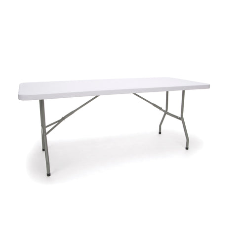 Essentials by OFM ESS-5072 6' Blow Molded Folding Utiity Table, White ; UPC: 845123089200 ; Image 1