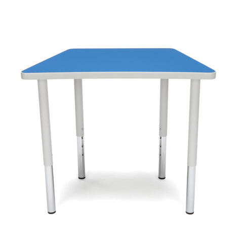 OFM Adapt Series Trapezoid Standard Table - 23-31? Height Adjustable Desk, Blue (TRAP-LL) ; UPC: 845123096666 ; Image 2