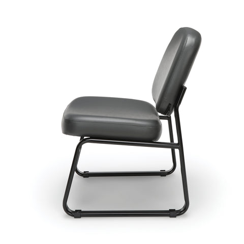 OFM Model 405-VAM Armless Guest and Reception Chair, Anti-Microbial/Anti-Bacterial Vinyl, Charcoal ; UPC: 811588014347 ; Image 5