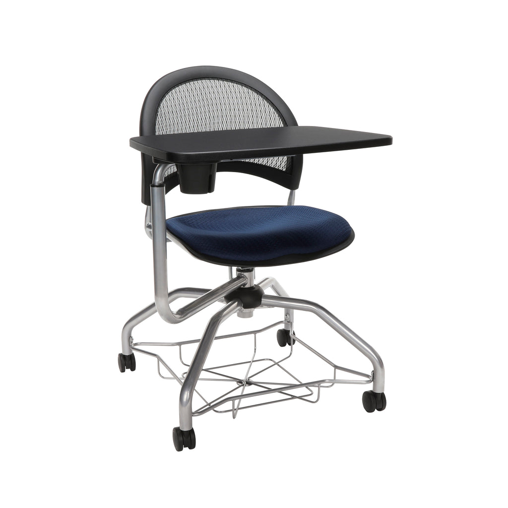 OFM Moon Foresee Series Tablet Chair with Removable Fabric Seat Cushion - Student Desk Chair, Navy (339T) ; UPC: 845123094594 ; Image 1
