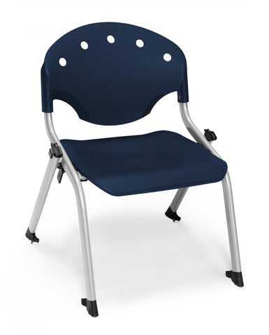 "OFM 305-12-P46 Student Stack Chair, 12"" Height, Navy (Pack of 4) ; UPC: 845123022023 ; Image 1"