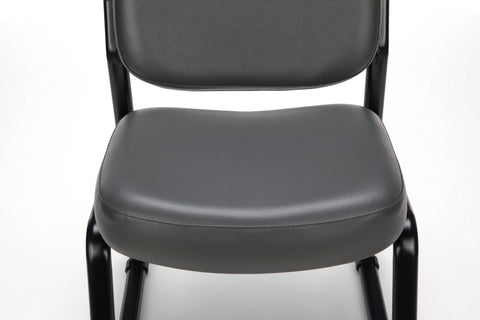 OFM Model 405-VAM Armless Guest and Reception Chair, Anti-Microbial/Anti-Bacterial Vinyl, Charcoal ; UPC: 811588014347 ; Image 7