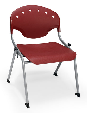 "OFM 305-16-P17 Student Stack Chair, 16"" Height, Burgundy (Pack of 4) ; UPC: 845123021903 ; Image 1"