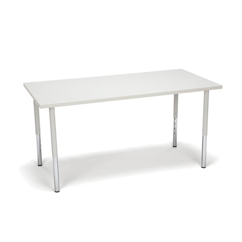 OFM Adapt Series Rectangle Standard Table - 23-31? Height Adjustable Desk, Gray Nebula (RECT-LL) ; UPC: 845123096031 ; Image 1