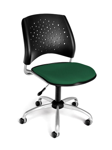 OFM Stars Series Armless Fabric Swivel Chair, Forest Green ; UPC: 845123004654 ; Image 1