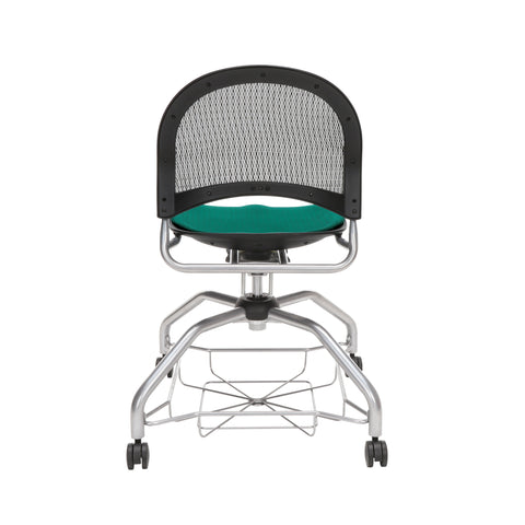 OFM Moon Foresee Series Chair with Removable Fabric Seat Cushion - Student Chair, Forest Green (339) ; UPC: 845123094495 ; Image 3