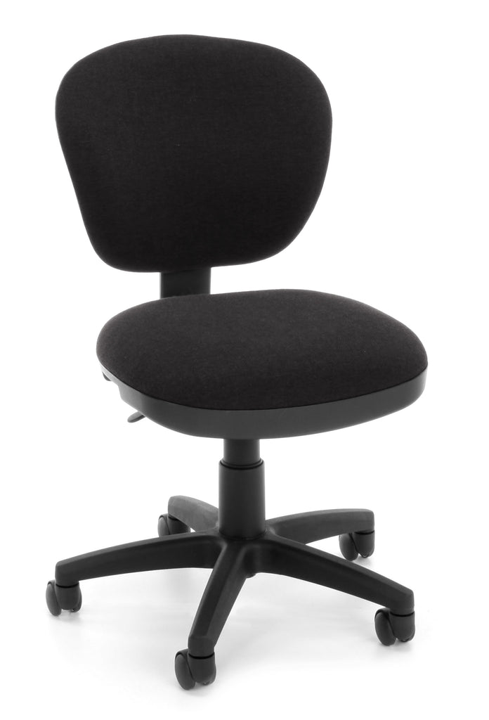 OFM Lite Use Model 150 Armless Computer Swivel Task Chair, Fabric, Black ; UPC: 845123028964 ; Image 1