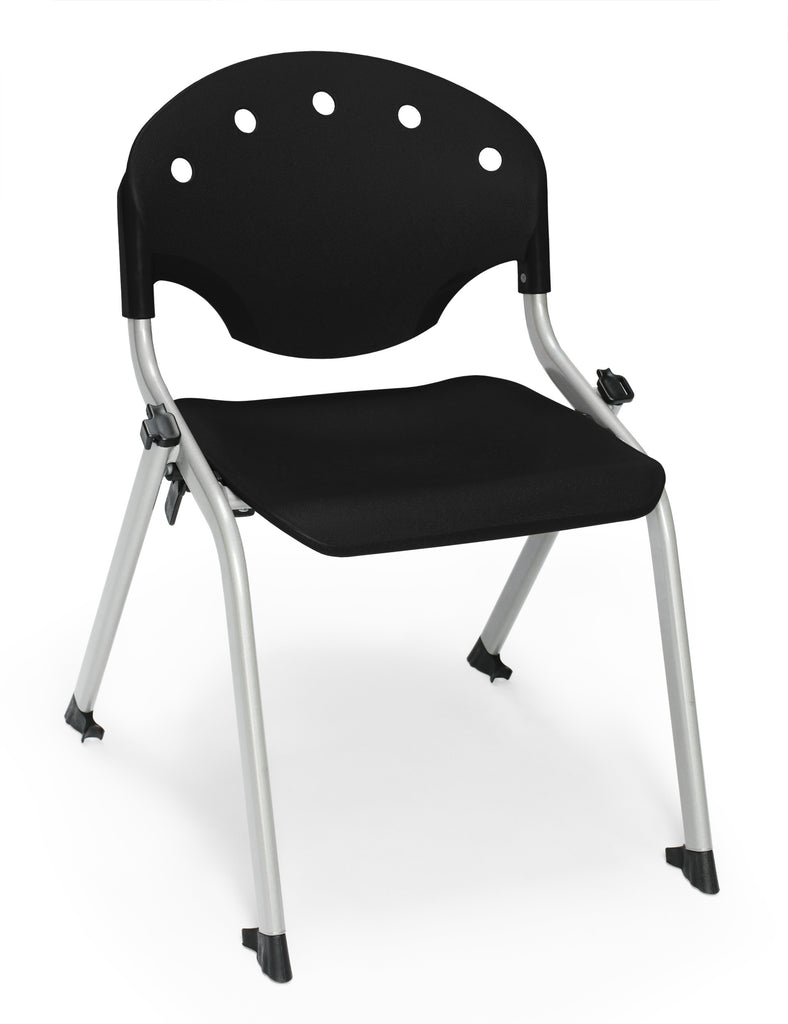 "OFM 305-14-P0 Student Stack Chair, 14"" Height, Black (Pack of 4) ; UPC: 845123021989 ; Image 1"