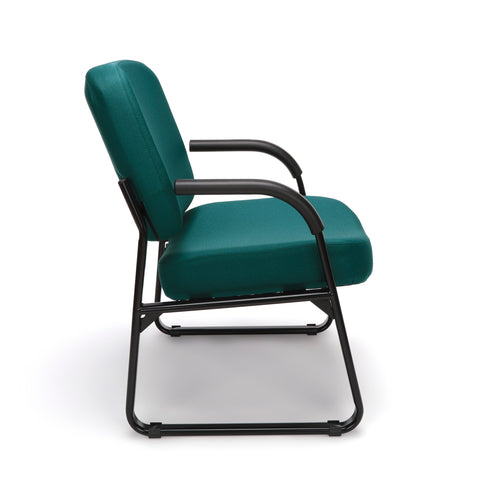 OFM Model 407 Fabric Big and Tall Guest and Reception Chair with Arms, Teal ; UPC: 845123030776 ; Image 4