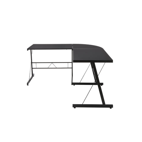 "OFM Essentials Collection 60"" Metal Frame L-Shaped Desk, Corner Computer Desk, in Black (ESS-1021 -BLK-BLK) ; UPC: 192767000079 ; Image 5"