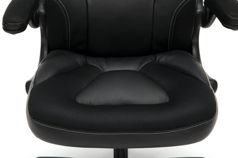 OFM Essentials Collection Racing Style Bonded Leather Gaming Chair, in Black (ESS-3085-BLK) ; UPC: 192767002523 ; Image 9