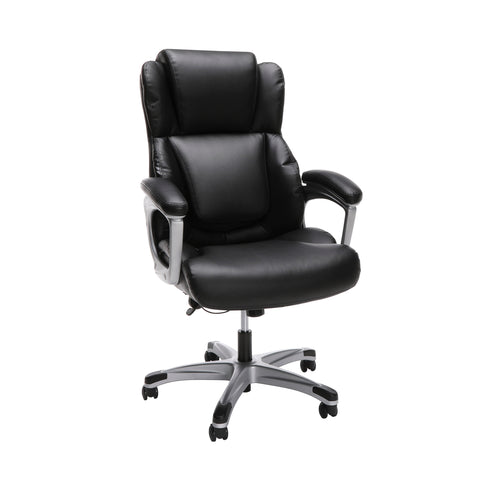 OFM Essentials Series Ergonomic Executive Bonded Leather Office Chair, in Black (ESS-6033-BLK) ; UPC: 192767000284 ; Image 1