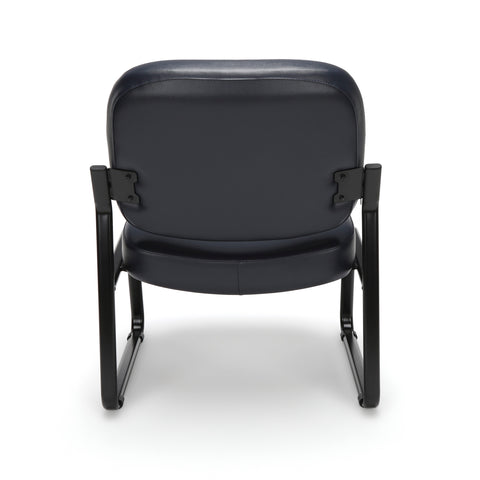 OFM Model 409-VAM Big and Tall Armless Guest and Reception Chair, Anti-Microbial/Anti-Bacterial Vinyl, Navy ; UPC: 845123028698 ; Image 3