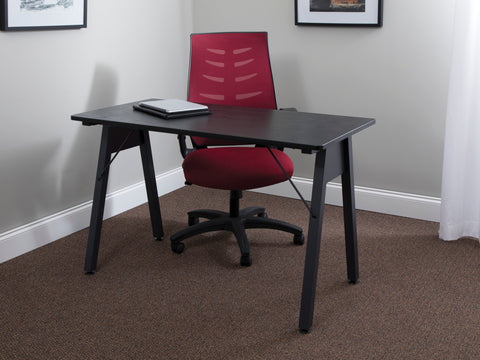 "OFM Essentials Collection 48"" Table Desk, Black Woodgrain (ESS-1050-BLK-BLK) ; UPC: 192767000123 ; Image 13"