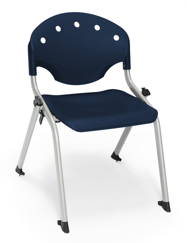 "OFM 305-14-P46 Student Stack Chair, 14"" Height, Navy (Pack of 4) ; UPC: 845123021996 ; Image 1"