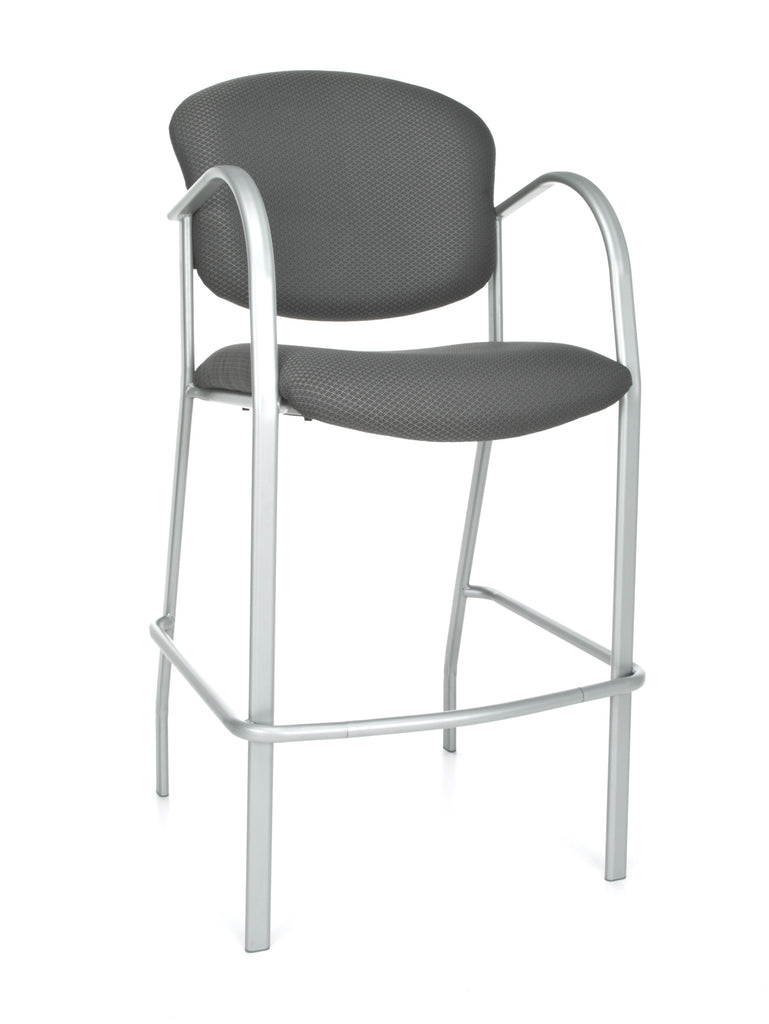 OFM Danbelle Series Model 414C Fabric Contract Reception Cafe Height Chair, Graphite ; UPC: 845123000021 ; Image 1