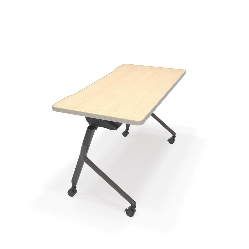 "OFM Mesa Series Model 66122 Flip Nesting Training Table and Desk, 23.5"" x 47.25"", Maple ; UPC: 845123080320 ; Image 1"