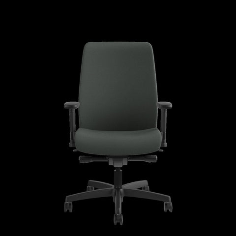 HON Endorse Mid-Back Task Chair with Lumbar Support, in Iron Ore (HLWU) ; UPC: 889218155166 ; Image 2