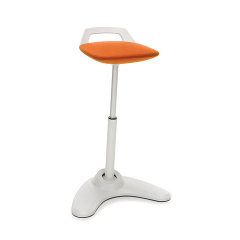 OFM VIVO Adjustable Height Bar Stool - Contemporary Perch Stool Chair, Orange with Cream Trim (2800-CRM-ORG) ; UPC: 845123090961 ; Image 1