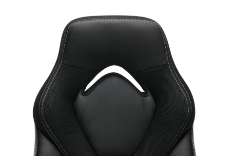 OFM Essentials Collection Racing Style Bonded Leather Gaming Chair, in Black (ESS-3085-BLK) ; UPC: 192767002523 ; Image 6