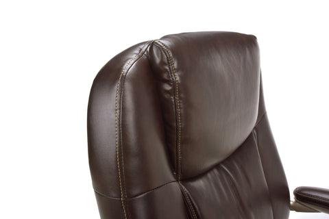 Essentials by OFM ESS-201 Big and Tall Leather Executive Office Chair with Arms, Brown/Bronze ; UPC: 845123080122 ; Image 7
