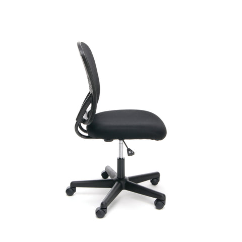 Essentials by OFM ESS-3010 Swivel Mesh Back Armless Task Chair, Mid Back, Black ; UPC: 089191013419 ; Image 4