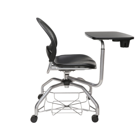 OFM Moon Foresee Series Tablet Chair with Removable Vinyl Seat Cushion - Student Desk Chair, Black (339T-VAM) ; UPC: 845123094785 ; Image 4