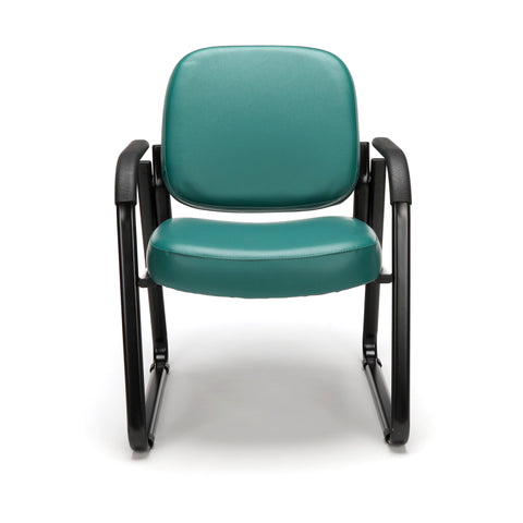 OFM Model 403-VAM Guest and Reception Chair with Arms, Anti-Microbial/Anti-Bacterial Vinyl, Teal ; UPC: 811588014170 ; Image 2