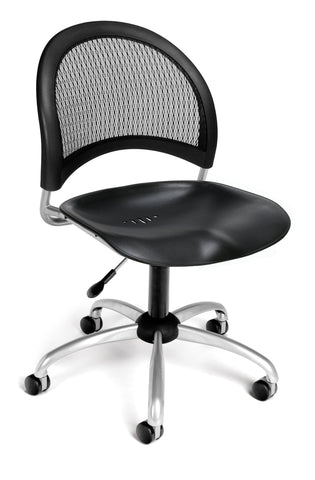 OFM 336-P-BLK Moon Swivel Plastic Chair, ; UPC: 845123014523 ; Image 1