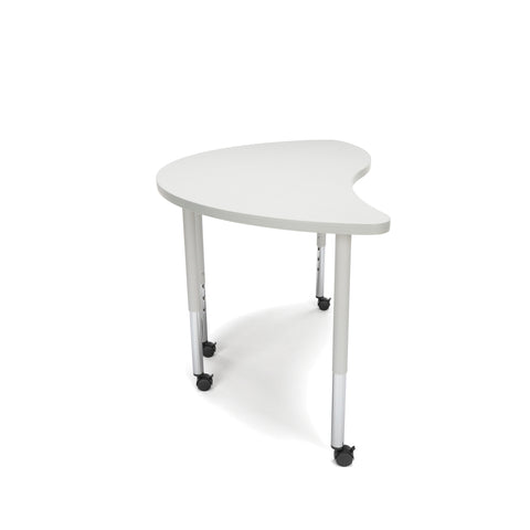 OFM Adapt Series Ying Standard Table - 25-33? Height Adjustable Desk with Casters, Gray Nebula (YING-LLC) ; UPC: 845123096475 ; Image 4