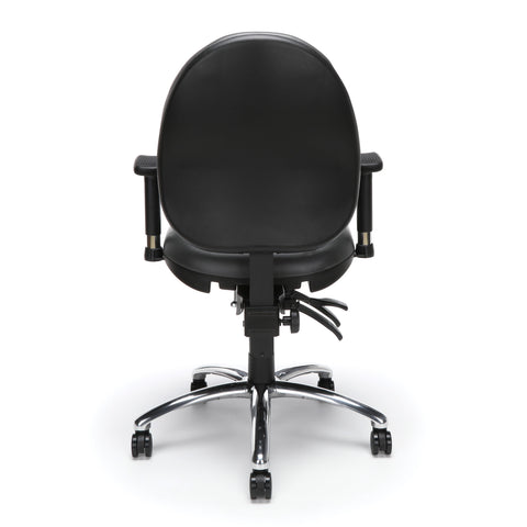 OFM Model 247-VAM 24 Hour Big and Tall Ergonomic Computer Swivel Task Chair with Arms, Anti-Microbial/Anti-Bacterial Vinyl, Charcoal ; UPC: 811588013036 ; Image 3