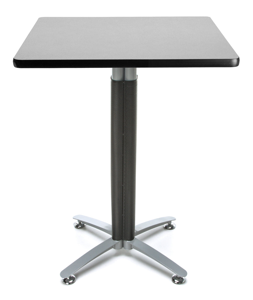 "OFM Model CMT30SQ 30"" Square Metal Mesh Base Cafe Table, Gray Nebula ; UPC: 845123053294 ; Image 1"