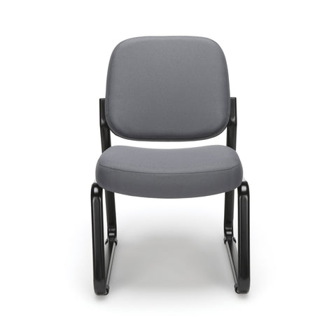 OFM Model 405 Fabric Armless Guest and Reception Chair, Gray ; UPC: 811588014248 ; Image 2