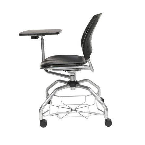 OFM Stars Foresee Series Tablet Chair with Removable Vinyl Seat Cushion - Student Desk Chair, Black (329T-VAM) ; UPC: 845123094341 ; Image 5