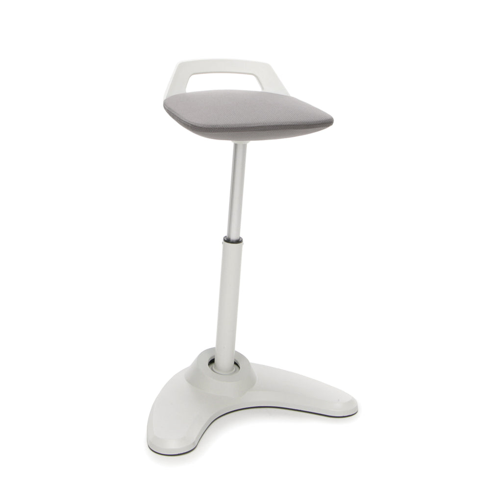 OFM VIVO Adjustable Height Bar Stool - Contemporary Perch Stool Chair, Gray with Cream Trim (2800-CRM-GRY) ; UPC: 845123090954 ; Image 1