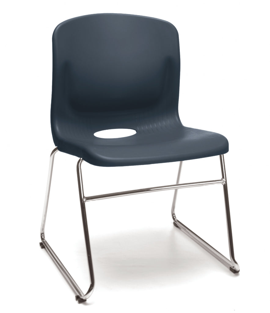 OFM Model 315 Multi-Use Stack Chair, Plastic Seat and Back, Navy ; UPC: 845123034767 ; Image 1