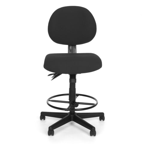 OFM 241-DK 24 Hour Ergonomic Upholstered Armless Task Chair with Drafting Kit, Charcoal ; UPC: 845123012536 ; Image 2