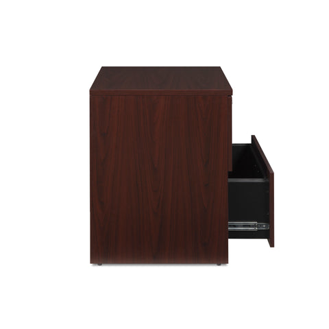OFM Fulcrum Series Locking Lateral File Cabinet, 2-Drawer Filing Cabinet, Mahogany (CL-L36W-MHG) ; UPC: 845123097571 ; Image 8