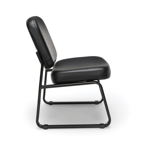 OFM Model 405-VAM Armless Guest and Reception Chair, Anti-Microbial/Anti-Bacterial Vinyl, Black ; UPC: 811588014361 ; Image 4