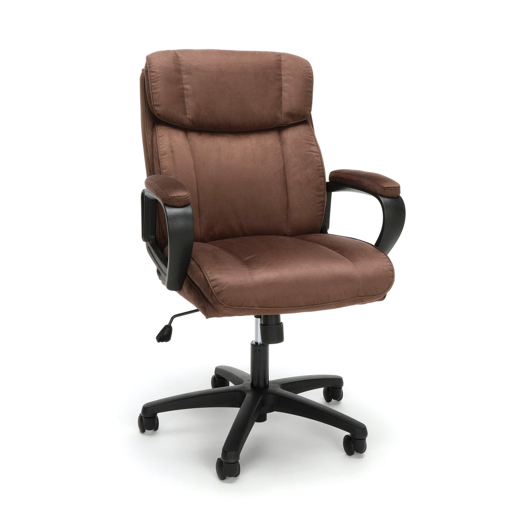 Essentials by OFM ESS-3082 Plush Microfiber Office Chair, Brown ; UPC: 845123095287 ; Image 1
