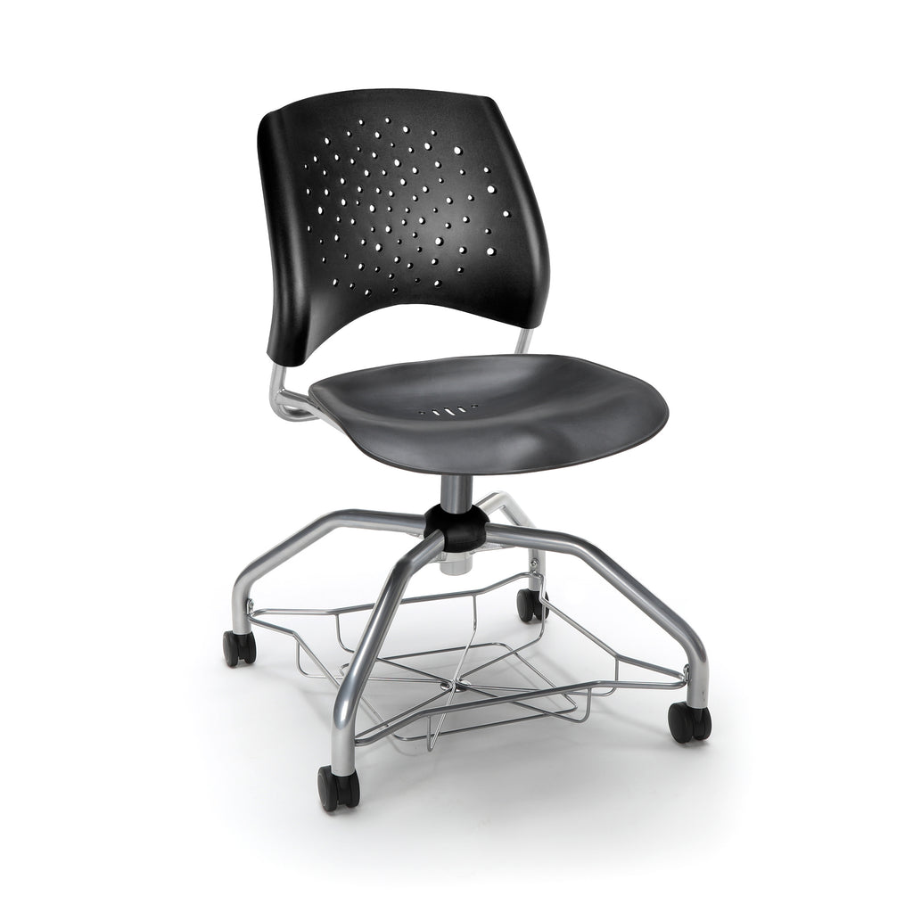 OFM Stars Foresee Series Tablet Chair with Removable Plastic Seat Cushion - Student Desk Chair, Black (329T-P) ; UPC: 845123094297 ; Image 1