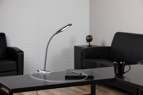 OFM ESS-9001-GRY Essentials LED Desk Lamp with Removable Base and Integrated Desk Clamp, Gray ; UPC: 192767000475 ; Image 11