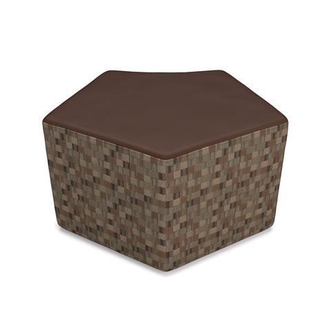 OFM Quin Series Model 55 Polyurethane Stool, Brown with Copper ; UPC: 845123080276 ; Image 1