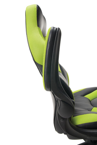 OFM Essentials Collection Racing Style Bonded Leather Gaming Chair, in Green (ESS-3085-GRN) ; UPC: 845123089293 ; Image 8