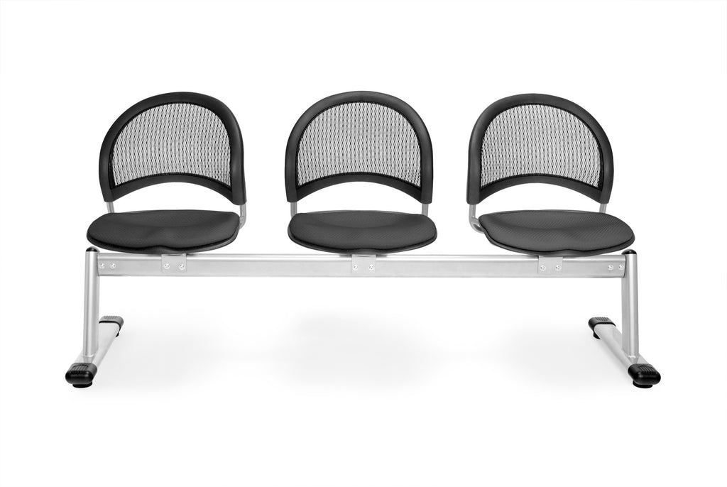 OFM 333-2213 Moon 3-Unit Beam Seating with 3 Seats, Slate Gray ; UPC: 845123008409 ; Image 1