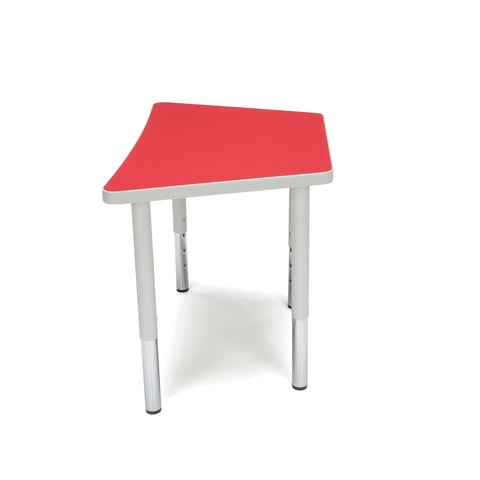 OFM Adapt Series Trapezoid Student Table - 18-26? Height Adjustable Desk, Red (TRAP-SL) ; UPC: 845123096369 ; Image 5