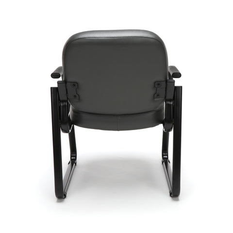 OFM Model 403-VAM Guest and Reception Chair with Arms, Anti-Microbial/Anti-Bacterial Vinyl, Charcoal ; UPC: 811588014200 ; Image 3
